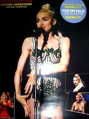 MADONNA  - Blond Ambition Japan Tour 1990 : very rare promo-only POSTER : video