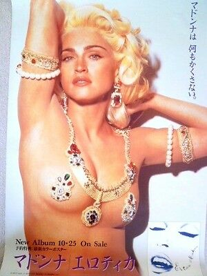 Madonna EROTICA  very rare 1992 JAPAN promo-only POSTER : CD/DVD/photo/picture