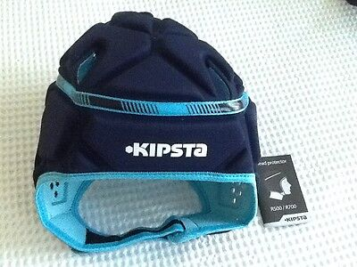 Xmas Gift? Footy Headgear Ex Larg Bnwt Irb Approved Navy Outer Lite  Blue Inside