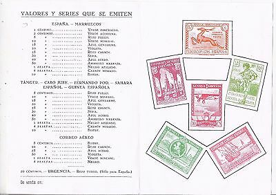 Spain 1929 Seville Barcelona Exposition pamphlet with stamp images