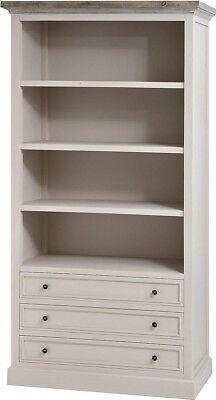 Hill Interiors Studley Collection 3 Drawer Bookcase Shelving Unit | Grey Wood