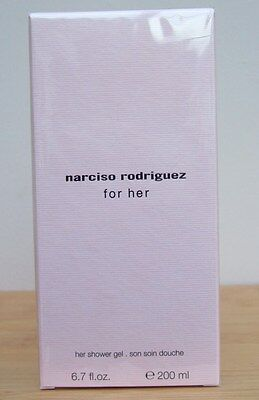 NARCISO RODRIGUEZ WOMENS SHOWER GEL 200ml  NEW SEALED