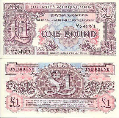 UK British Armed Forces 1 Pound Note 2nd Series (1948) - Perfect UNC!