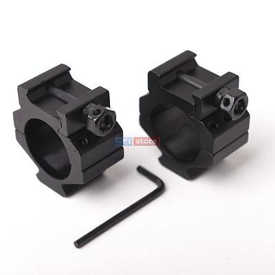 2PCS 30mm Rings Rifle Tactical Low Profile Picatinny Scope Rings Rail for Laser