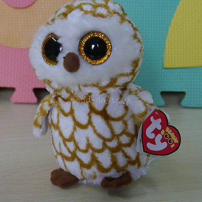 Soft Toy From TY BEANIES BOOS Owl Swoops 6 inch  Glitter eyes Stuffed toy