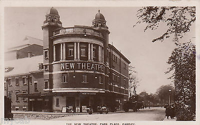 Postcard Cardiff Wales the New Theatre in Park Place posted 1910 RP theatrical