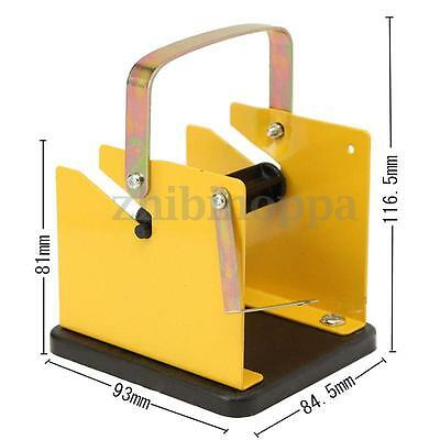 Iron Soldering Welding Tool Yellow Black Metal Solder Wire Stand Holder Support
