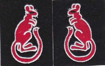 WW2 British Army 7th Armoured Division 'Desert Rats' shoulder patches,repro