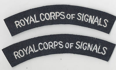WW2 British Army Royal Corps of Signals shoulder titles