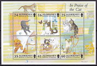 Alderney Cats S/s (12B) Mint Never Hinged