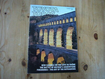 Toyota Today factory customer magazine, Summer 1988, very good condition