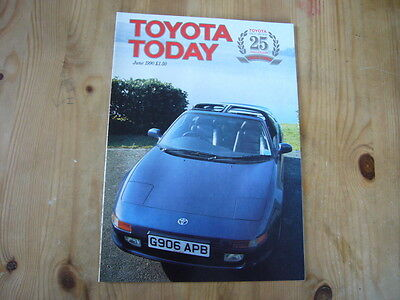 Toyota Today factory customer magazine, June 1990, excellent condition