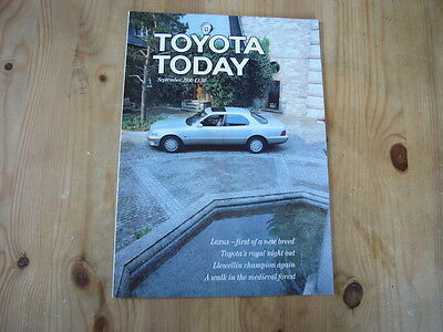 Toyota Today factory customer magazine, September 1990, excellent condition