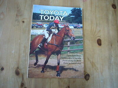 Toyota Today factory customer magazine, November 1990, excellent condition