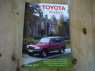 Toyota Today factory customer magazine, Winter 1992, excellent condition