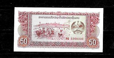 LAOS #29b 1979 UNUSED MINT OLD 50 KIP REPLACEMENT BANKNOTE BILL NOTE PAPER MONEY