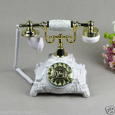 New European Style High Grade Resin Pattern Antique Ancient Dial Telephone