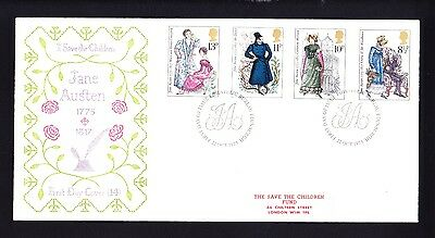 Gb 1975 Rare Early Save The Children Fdc No 14 Jane Austen