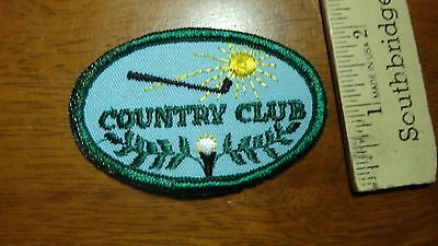 vintage country club golfing patch     BX H 72