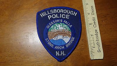 Vintage Hillsborough New Hampshire Police Department Obsolete  Patch Bx G#1