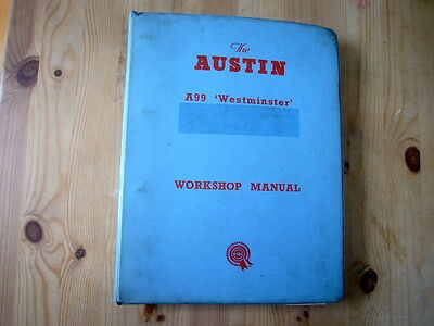 Austin A99/A110 Westminster factory workshop manual, c1963, very good condition