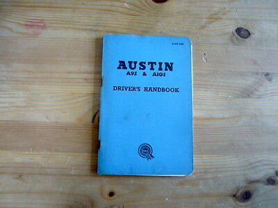 Austin A95 & A105 factory owner's handbook, 1959, excellent condition