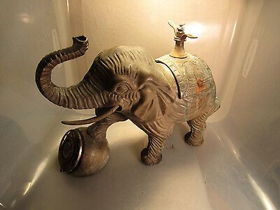 Antique Cast Iron Elephant Telephone