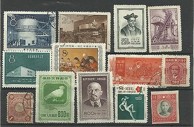 A Selection of Mounted Mint & Used Chinese Stamps.