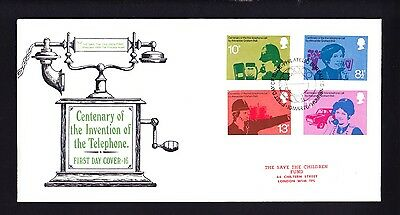 Gb 1976 Rare Early Save The Children Fdc No 16 Invention Of The Telephone