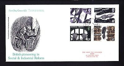 Gb 1976 Rare Early Save The Children Fdc No 17 Social Reformers