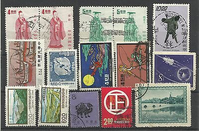 A Selection of Good Used China/Taiwan Stamps.