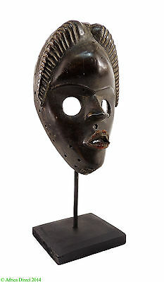 Dan Mask Firewatch Mask on Stand Liberia African Art