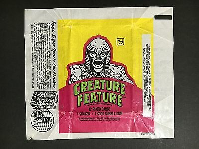 """Creature Feature Trading Card Wax Wrapper """"creature From The Black Lagoon"""""""