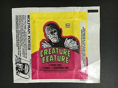 """Creature Feature Trading Card Wax Wrapper """"the Mummy"""""""