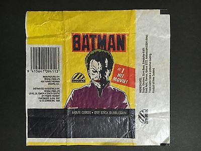 Batman #1 Hit Movie Trading Card Wrapper By Regina