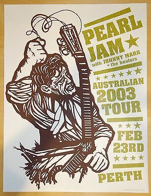 2003 Pearl Jam - Perth Concert Poster by Ames Design