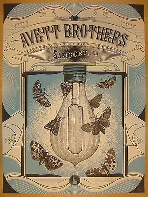 2013 Avett Brothers - Sandpoint Concert Poster by Status Serigraph S/N
