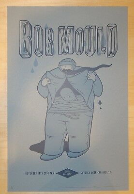 2010 Bob Mould - San Francisco Silkscreen Concert Poster s/n by Jeff Boozer