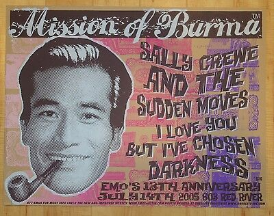 2005 Mission of Burma - Austin Silkscreen Concert Poster s/n by Obsolete