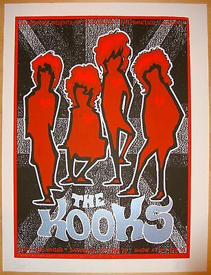 2008 The Kooks - San Francisco Silkscreen Concert Poster s/n by Zio Firehouse