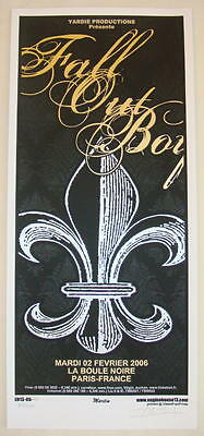 2006 Fall Out Boy - Paris Silkscreen Concert Poster S/N Martin