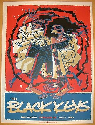 2012 The Black Keys - Portland Silkscreen Concert Poster by Guy Burwell s/n