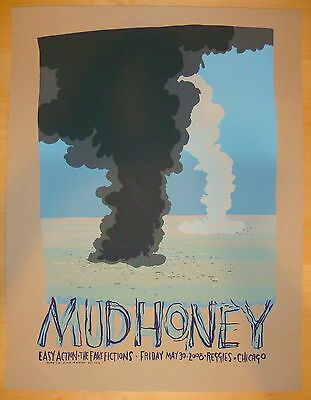 2008 Mudhoney - Chicago - Silkscreen Concert Poster S/N by Jay Ryan