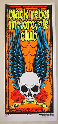 2007 Black Rebel Motorcycle Club - Columbus Silkscreen Concert Poster s/n Martin
