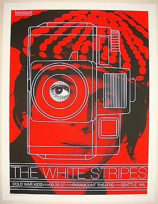 2007 The White Stripes - Seattle I Silkscreen Concert Poster by Rob Jones S/N