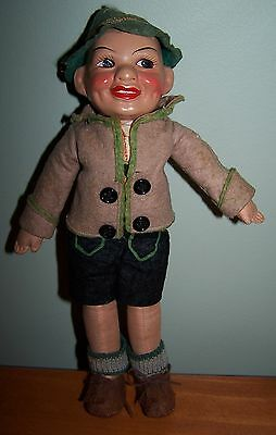 Composition And Cloth Character Doll - German Origins - Circa 1930