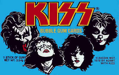 KISS - Bubble Gum Cards -- Fridge Magnet