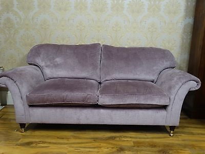 Fabulously Pretty Laura Ashley Mortimer Large sofa settee couch, lilac RRP £2300