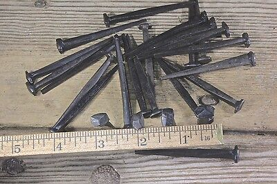 "2 1/2"" Rose head nails 20 in lot square wrought iron Antique vintage look 2.5"