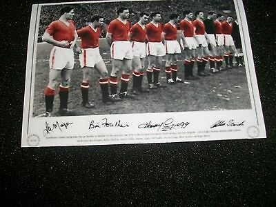 """MANCHESTER UNITED LAST LINE UP BEFORE MUNICH  1958  6""""x4""""  REPRINT POST FREE"""